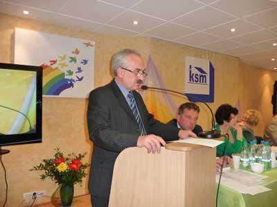 Przemawia Przewodniczący Rady Nadzorczej KSM - Zbigniew Olejniczak