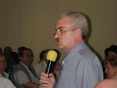 Głos zabiera przedstawiciel Osiedla Zawodzie – Zbigniew Olejniczak