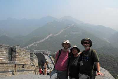 Całą rodziną – to znaczy z mężem Zbigniewem i synem Michałem – na Wielkim Murze w Chinach