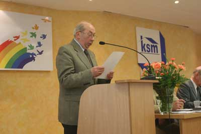 Przewodniczący Komisji Mandatowo-Skrutacyjnej – Eugeniusz Dyczka