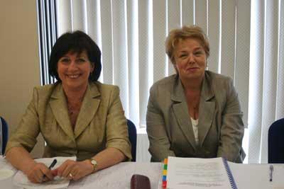 W Zebraniu uczestniczyły była i obecna członkini Zarządu KSM – Teresa Żabińska (z lewej) i Urszula Smykowska